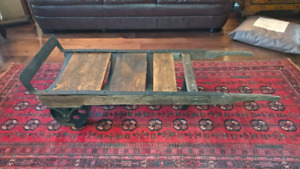 Reclaimed Industrial dolly rustic coffee table