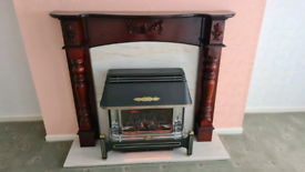 Baxi bermuda GF2 super Gas fire with marble rear and base