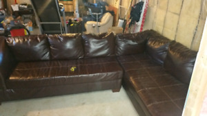 Ashley bonded leather sectional
