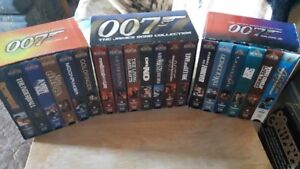 THE JAMES BOND COLLECTION 19 VHS MOVIES IN EXCELLENT CONDITION