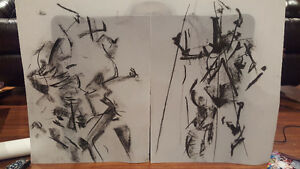 Charcoal Drawings on Mylar