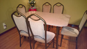 Dining kitchen table with 6 chairs