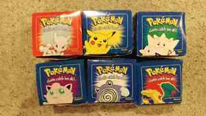 All 6 1999 23k gold plated pokeballs and cards