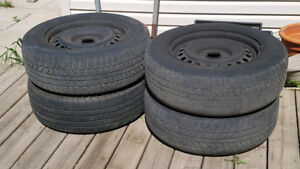 4 Nissan XTrail Tires on Rim 215 65 16 for free