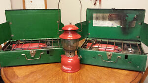 Coleman camping stoves and lantern