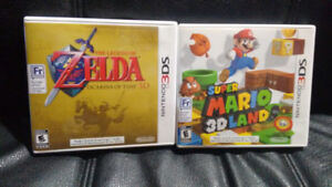 Ocarina of Time & Super Mario 3d land (3DS), negotiable price!
