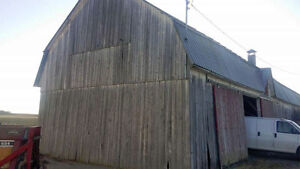 Barn demolition and reclamation