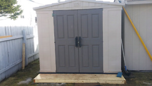 8x10 Plastic Shed decent condition. Willing to deliver and setup