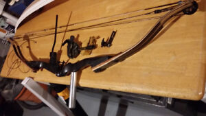 Compound bow with accessories