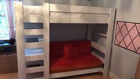 Children's stompa bunk bed, Ikea Kura bed and ikea stuva storage
