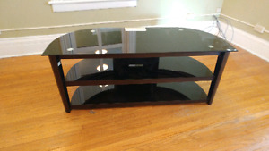 TV Stand. Glass and metal