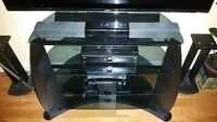 ☆◇☆Four Glass Shelves TV Stand No Scratches Original 399.99$☆◇☆