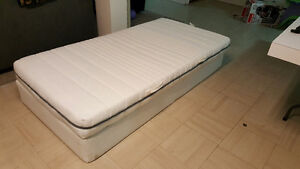 Single IKEA Bed (box and mattress) Used for 2 years