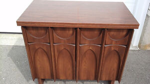 SEWING MACHINE CABINET & CHAIR
