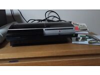 PS3 With Controller and Games and Move