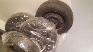 Almost new 16 inch GoodYearNordic WinterTire & 16 inch rims $549