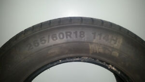 Set of 4 Winter Tires - Like New - 265/60R18 114H