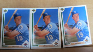 Jeff Conine MLB rookie cards(3)