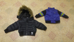 Boys 12mth jackets, NY, Hurley,Colombia, $10 each