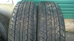 Selling 2X 245 75 16 DUNLOP  All-Season Tires