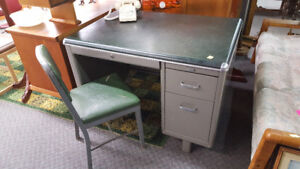 1930's Industrial desk and chair