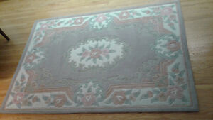 "5.25 ""X 7.5"" Chinese Handmade Area Rug Light brown / Ivory"
