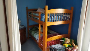 Solid Wood Bunk Beds including almost new mattresses (Humboldt)