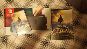Brand new Nintendo switch console wth Zelda and collectors guide
