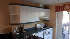 Armoire de cuisine modulaire blanc en mélamine