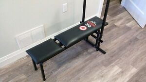 York weight bench and weights