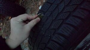 215/60r17 Winter Tires With Rings Cambridge Kitchener Area image 4