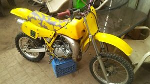 looking to trade 92 rm80 for baja mini bikes