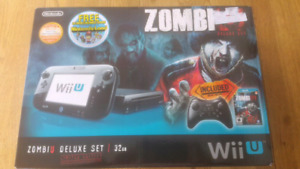 Wii U Zombiu Deluxe Set 32 G Limited Edition Console