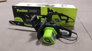 """NEW POULAN ES400 18"""" ELECTRIC CHAINSAW"""
