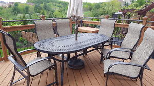 Patio Furniture and umbrella