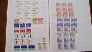 Album de collection de timbres canadiens
