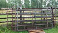 Steel corral panels (can also be hung for gates)