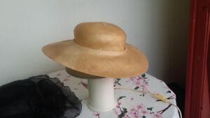 Straw hat. Summer hat. Straw woman hat.  M/L  -  $30