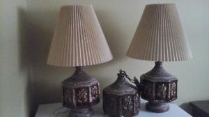 Lampes en ceramique