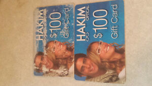 Hakim optical gift certificates for sale