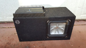 10 inch kicker sq sub with amp