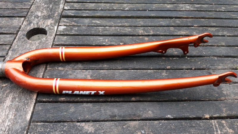 Used, On One Kaffenback Gravel/CX 1 & 1/8 inch; Chromoly Fork, Bronze Colour, Disc for sale  Clapham, Stockwell