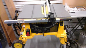 """Dewalt 10""""table saw and stand"""