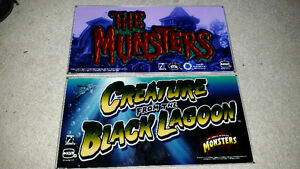 The Munsters,the Creature from the Black lagoon top glass/slots.