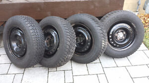 Winter Tires Goodyear Nordic 205/65/R15 with rims Cambridge Kitchener Area image 1