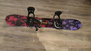 Burton snowboard, bindings and boots