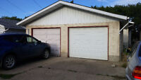 Double detached garage for rent available now