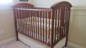 Wood Baby Nursery: Crib, Change Table, Rocker, Mattress and more Kitchener / Waterloo Kitchener Area image 1
