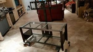 Flat panel TV stand and console