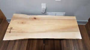 Maple Live Edge Coffee Table